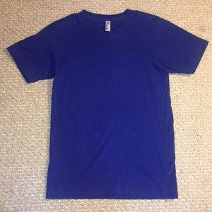 American Apparel Royal Blue T Shirt Extra Small